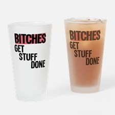 bitches Drinking Glass