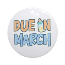 Due In March Boy Ornament (Round)