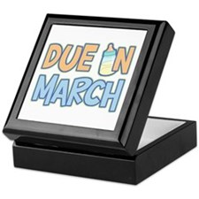 Due In March Boy Keepsake Box