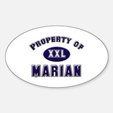 Property of marian Oval Decal