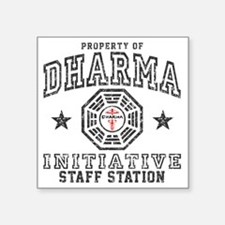 "Dharma Staff Square Sticker 3"" x 3"""