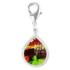Roswell Poster Silver Teardrop Charm