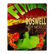 Roswell Poster Throw Blanket