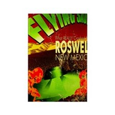 Roswell Poster Rectangle Magnet