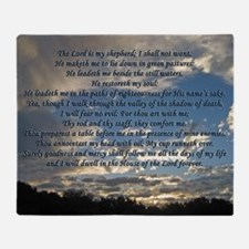 psalm23print14x10 Throw Blanket