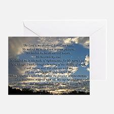 psalm23framedprint Greeting Card