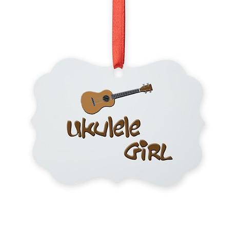 ukulele girls Picture Ornament