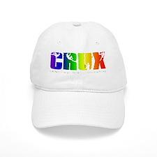 CRUX_logo_rainbow_on_black_transp NEW Baseball Cap