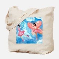 pink fairies nearly square Tote Bag