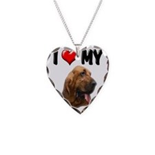 I Love My Bloodhound Necklace