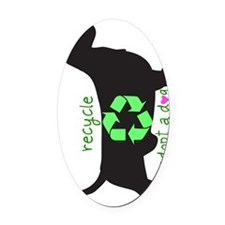 phone.recycle.heart Oval Car Magnet