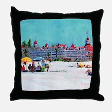 hotel del coronado picture Throw Pillow