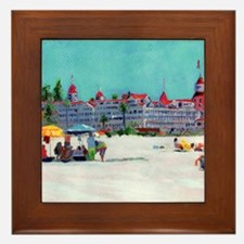 hotel del coronado picture Framed Tile