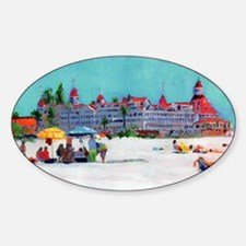 hotel del coronado picture Sticker (Oval)