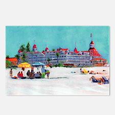 hotel del coronado pictur Postcards (Package of 8)