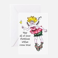 Angel wishes Greeting Card