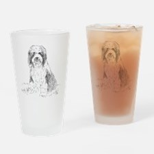 beardie-vp-1 Drinking Glass