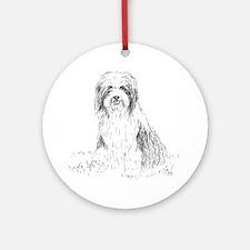 beardie-vp-1 Round Ornament
