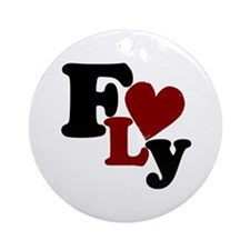 Fly (Heart) Ornament (Round)