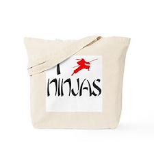 I Love Ninjas Tote Bag