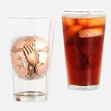 Praying Hands Drinking Glass