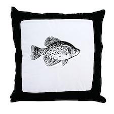 CRAPPIE SLAYER 4 BLACK Throw Pillow