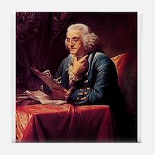 Benjamin Franklin Tile Coaster