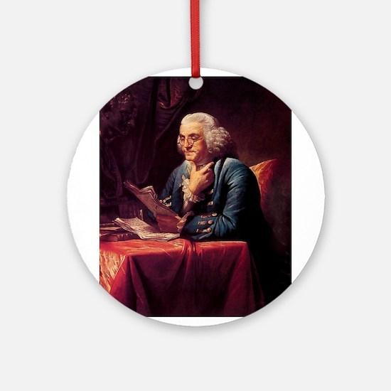 Benjamin Franklin Ornament (Round)
