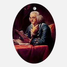 Benjamin Franklin Oval Ornament