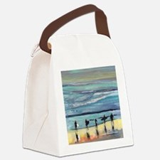 surfers oceanside california by R Canvas Lunch Bag