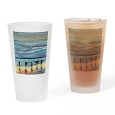 surfers oceanside california by Ric Drinking Glass