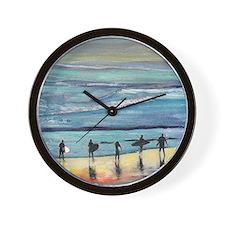 surfers oceanside california by Riccobo Wall Clock