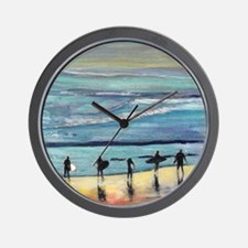 surfers oceanside california by Riccobo Wall Clock