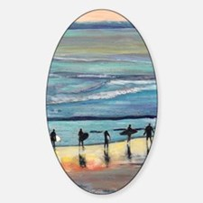 surfer painting by RD RIccoboni Decal