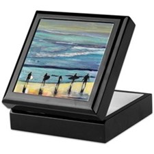 surfers oceanside california by Ricco Keepsake Box