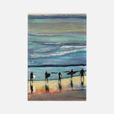 surfer painting by RD RIccoboni Rectangle Magnet