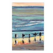 surfer painting by RD RIc Postcards (Package of 8)