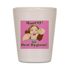 Hooray for Oral Hygiene Retro Colorp Shot Glass