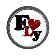 Fly (Heart) Wall Clock