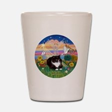 ORN-AutumnAngel-SYLVESTER cat Shot Glass