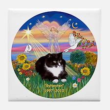 ORN-AutumnAngel-SYLVESTER cat Tile Coaster