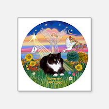 "ORN-AutumnAngel-SYLVESTER c Square Sticker 3"" x 3"""
