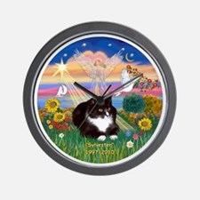 ORN-AutumnAngel-SYLVESTER cat Wall Clock