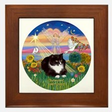 ORN-AutumnAngel-SYLVESTER cat Framed Tile