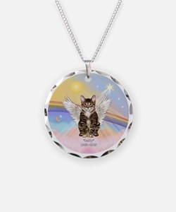 ORN - Clouds - Tabby Cat 30- Necklace