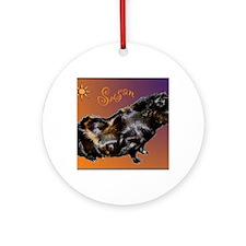 melissas guinea pig1 Round Ornament