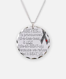 diabeetus Necklace Circle Charm
