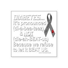 "diabeetus Square Sticker 3"" x 3"""