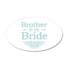 Brother of the Bride blue Wall Sticker
