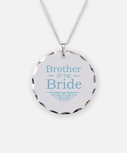 Brother of the Bride blue Necklace